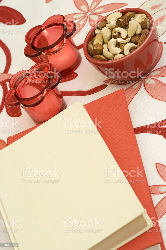 Red and white book royalty-free stock photo