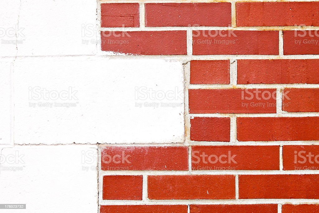 Red and White Brick Wall royalty-free stock photo