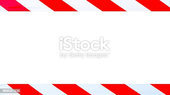 istock Red and white caution warning tape 866061336