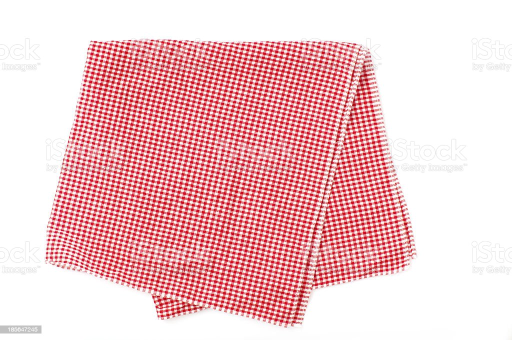 red and white checked napkin royalty-free stock photo