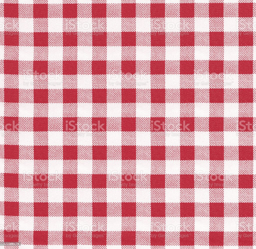 Red and white checked pattern royalty-free stock photo
