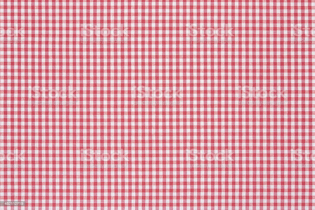 Red and white checkered tablecloth background pattern stock photo