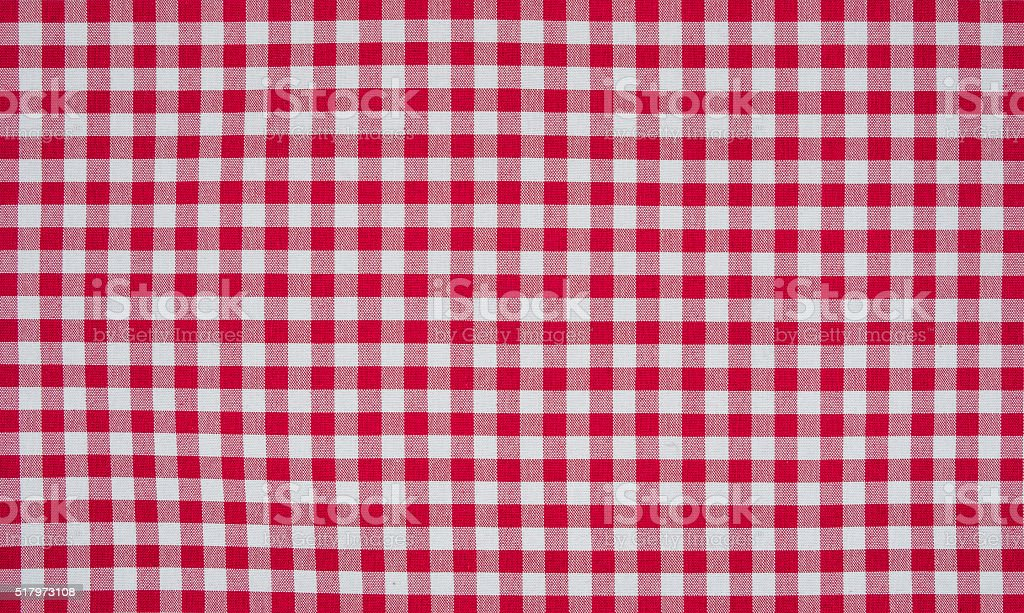 Red And White Checkered Tablecloth Royalty Free Stock Photo