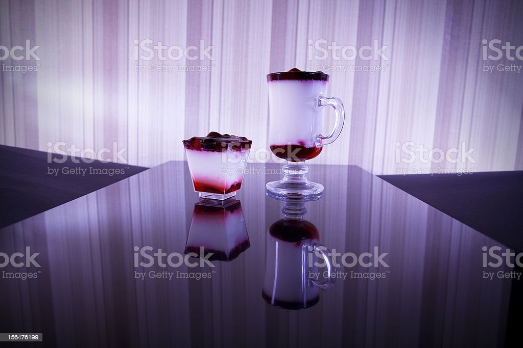 red and white cocktails royalty-free stock photo