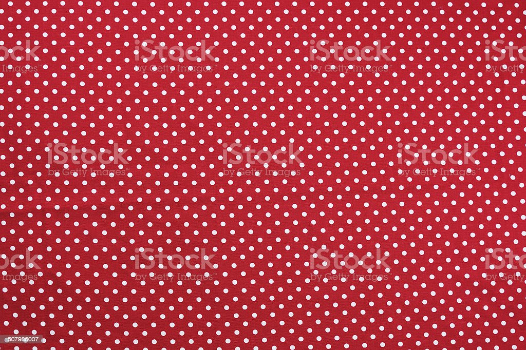 Red and white dot tablecloth texture stock photo