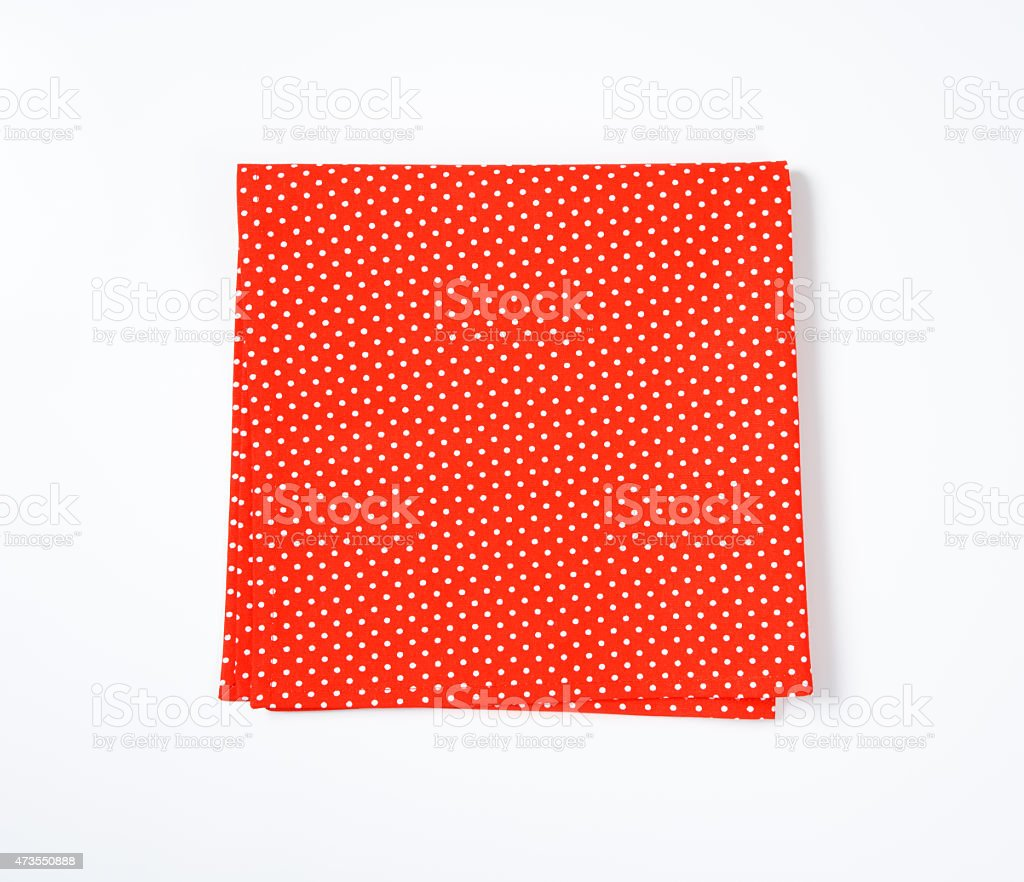 Red and white dotted place mat stock photo