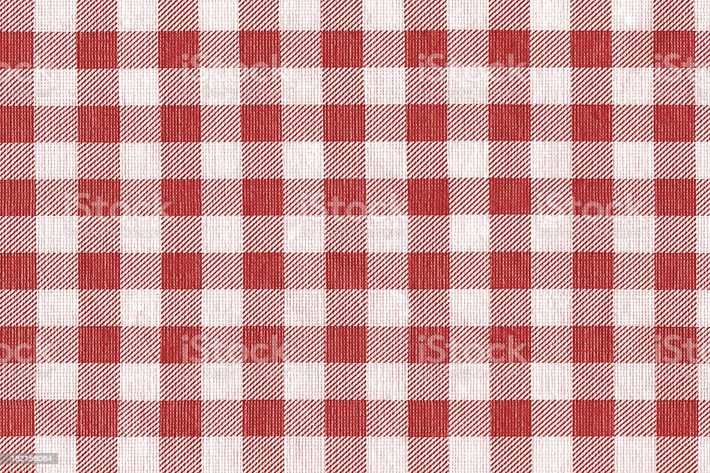 Red and white gingham tablecloth pattern background texture royalty-free stock photo