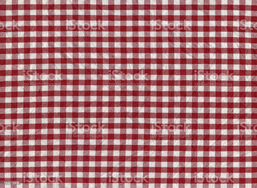 Red and White Gingham Tablecloth Pattern stock photo