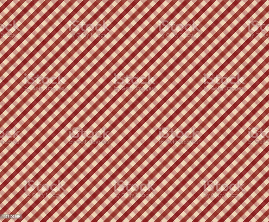Red And White Gingham Tablecloth Pattern Royalty Free Stock Photo
