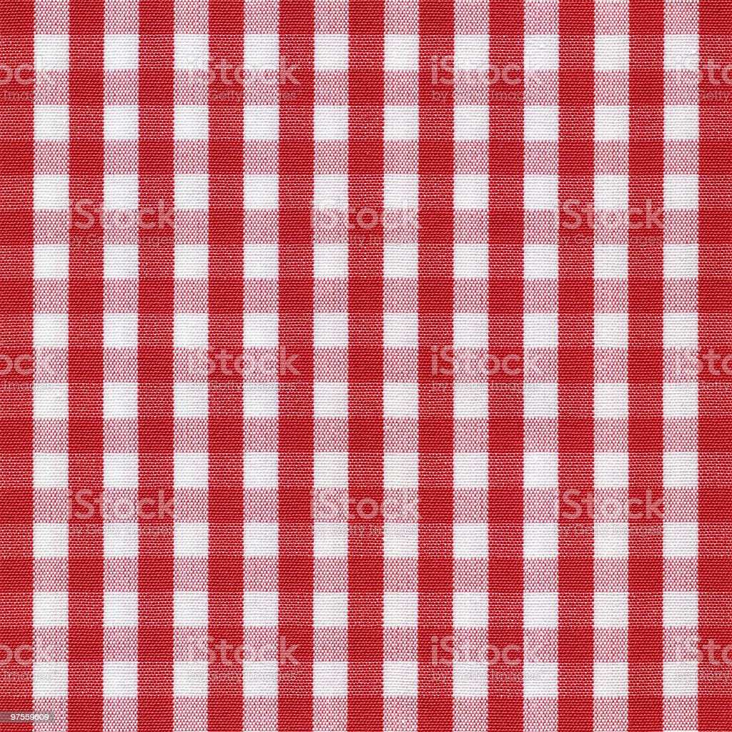 Red and White Gingham Tablecloth Pattern royalty-free stock photo