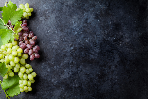 Red and white grapes