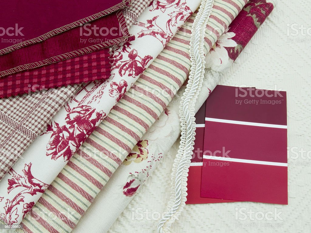 Red and white interior decoration plan royalty-free stock photo