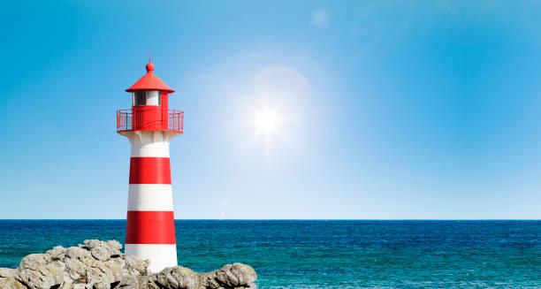phare rouge et blanc - phare photos et images de collection