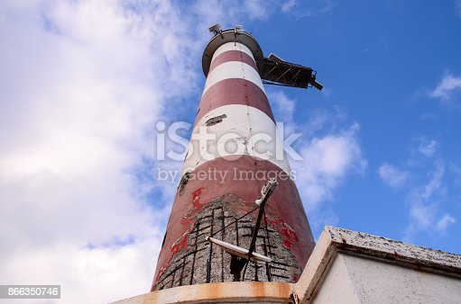 Red and White Lighthouse in South Tenerife Canary Islands