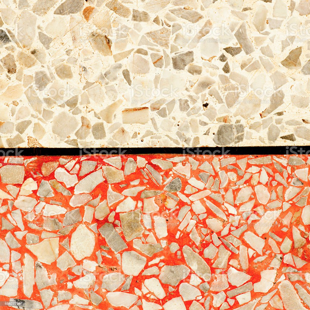 Red and white marble floor. royalty-free stock photo