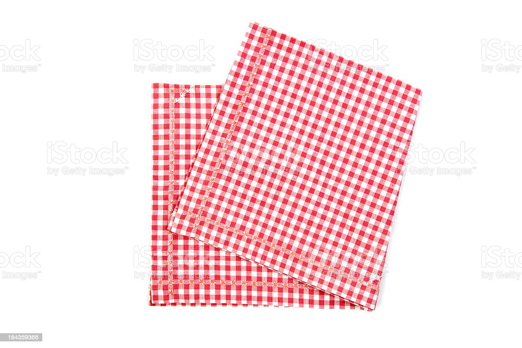Red and white napkin royalty-free stock photo