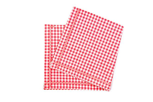 Red and white napkin stock photo