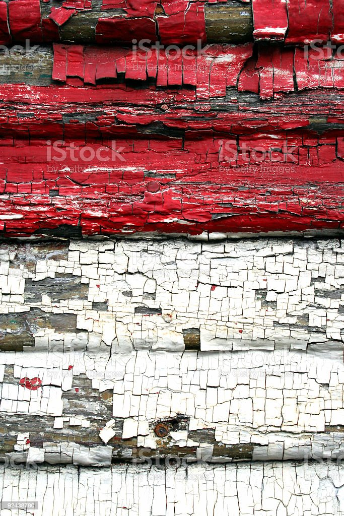 Red and White Paint royalty-free stock photo
