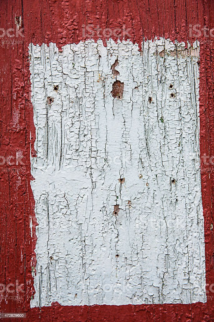 Red and white painted wooden panel, background, wallpaper stock photo