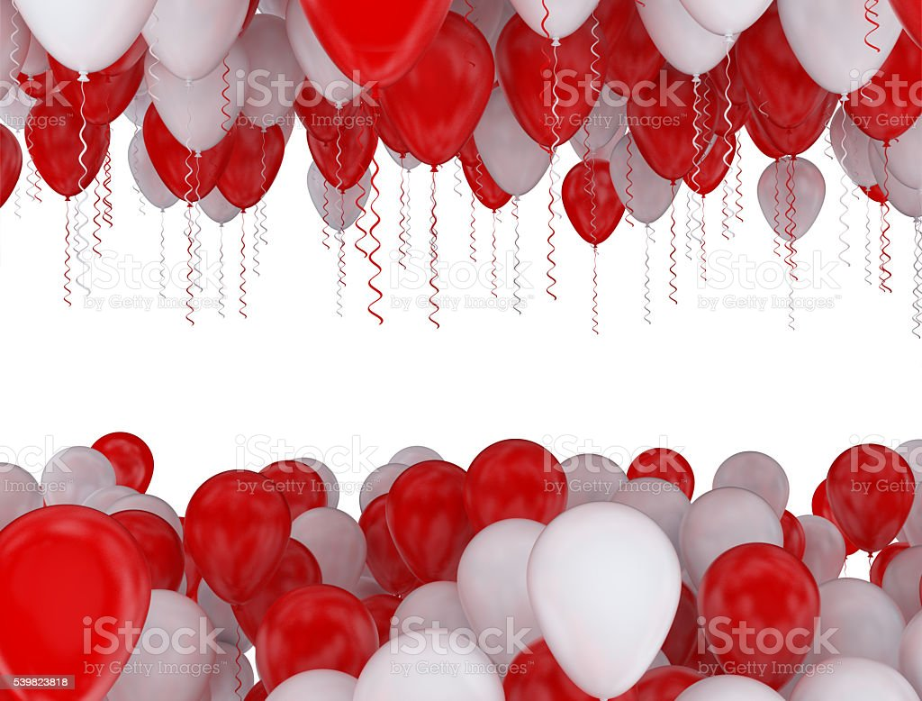 red and white party balloons stock photo more pictures of