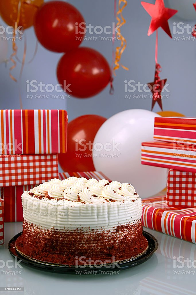 Red and White Party Scene royalty-free stock photo
