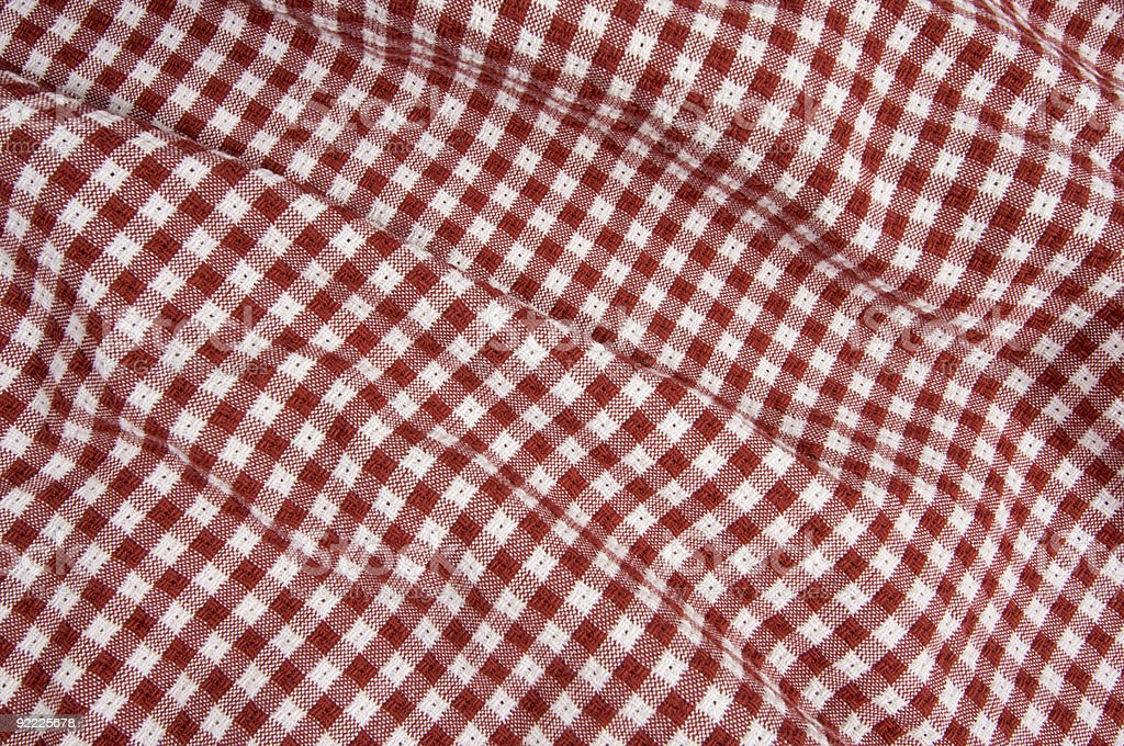 Red and White Picnic Blanket royalty-free stock photo