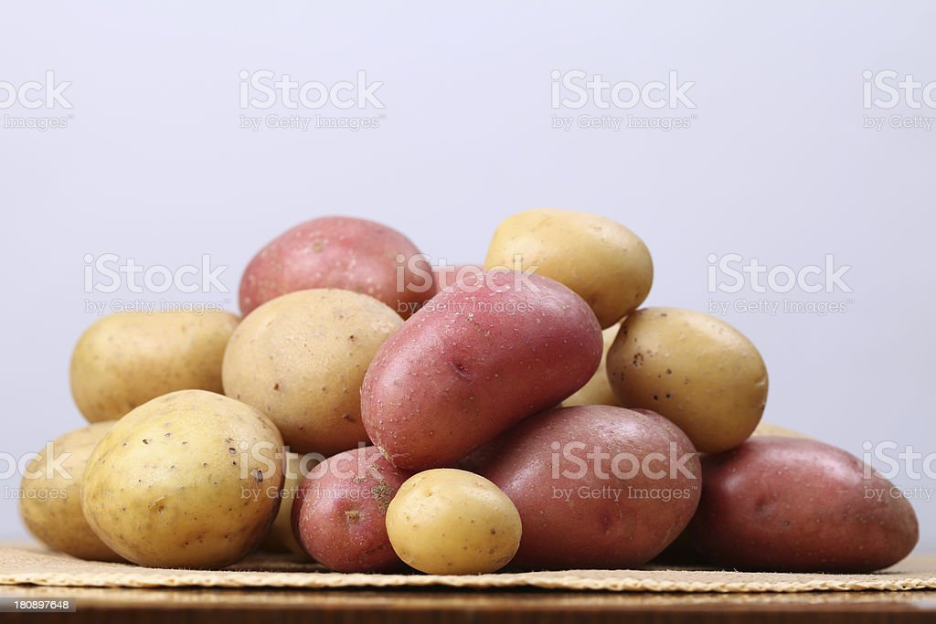 Red and white potatoes royalty-free stock photo