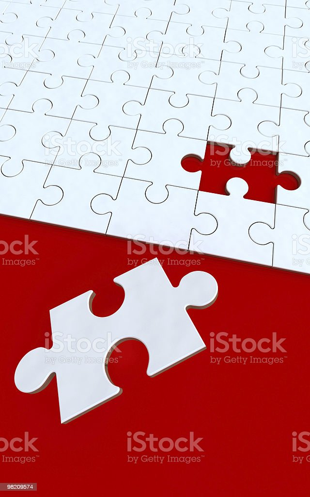 Red and white puzzle royalty-free stock photo