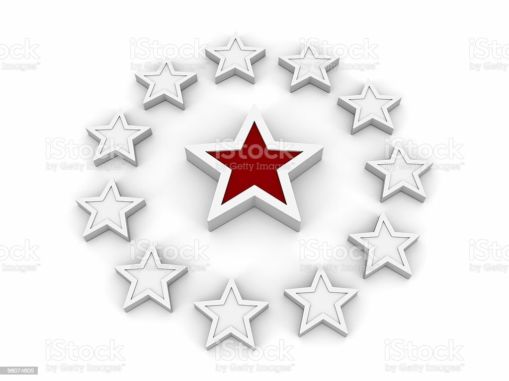 Red and White Stars royalty-free stock photo