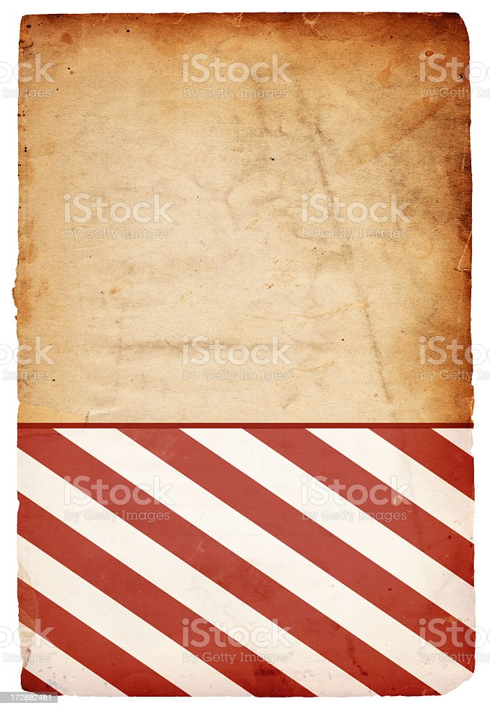 Red and White Striped Paper XXXL royalty-free stock photo