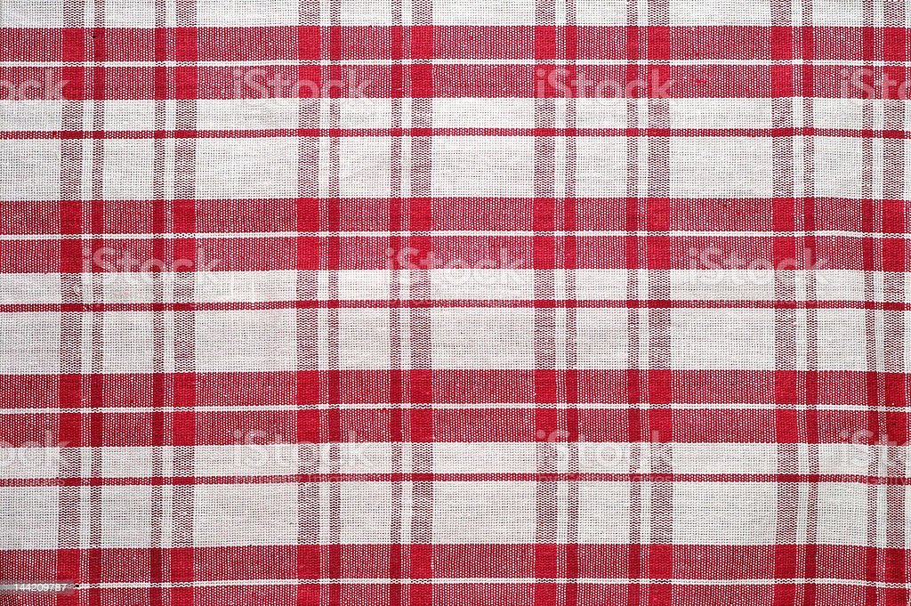 Red and white tablecloth pattern royalty-free stock photo