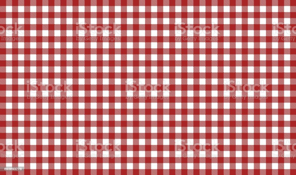 Red and white tablecloth tablecloth background stock photo