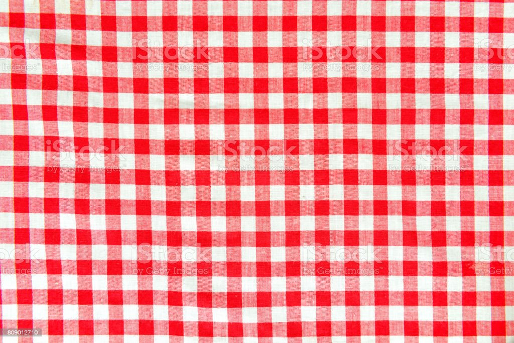 red and white vichy pattern stock photo