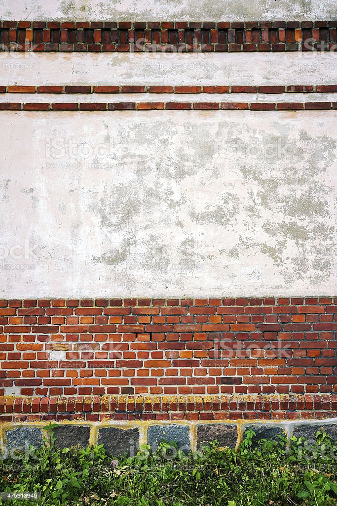 Red and white wall background royalty-free stock photo