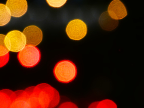 Red and yellow abstract lights