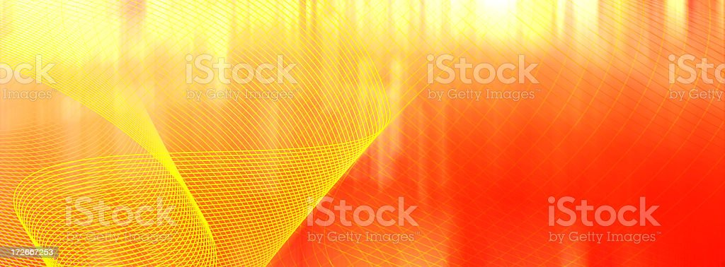 Red and yellow abstract swirl background stock photo