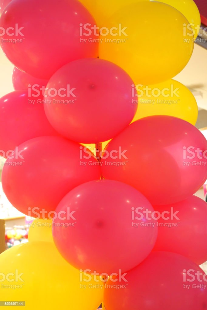 Red and Yellow Balloon arch stock photo