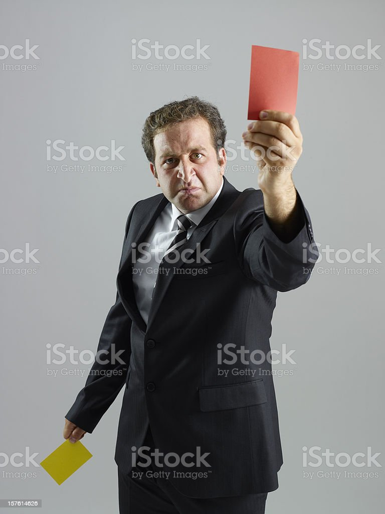 red and yellow card royalty-free stock photo