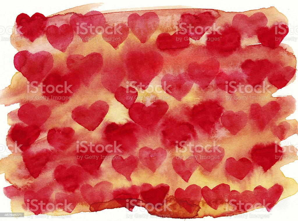 Red and yellow heart background royalty-free stock photo