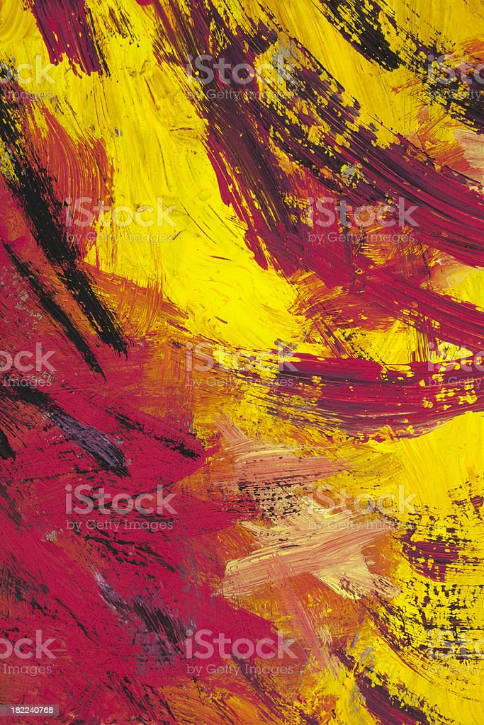 Red and yellow painted abstract background royalty-free stock photo
