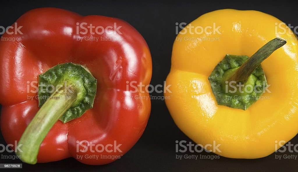 Red and yellow pepper royalty-free stock photo