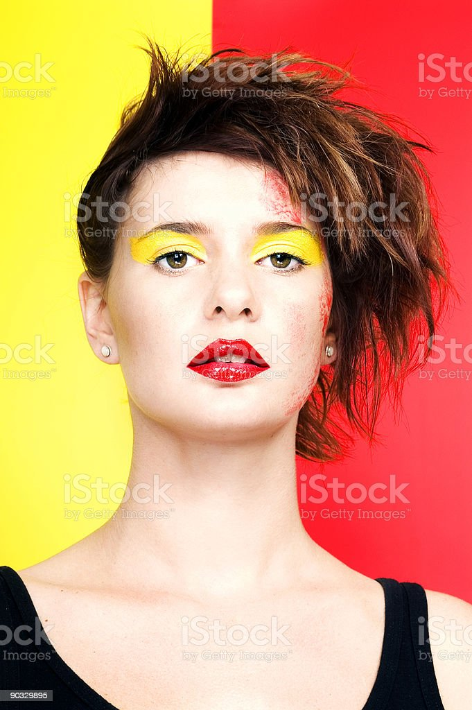 Red And Yellow royalty-free stock photo