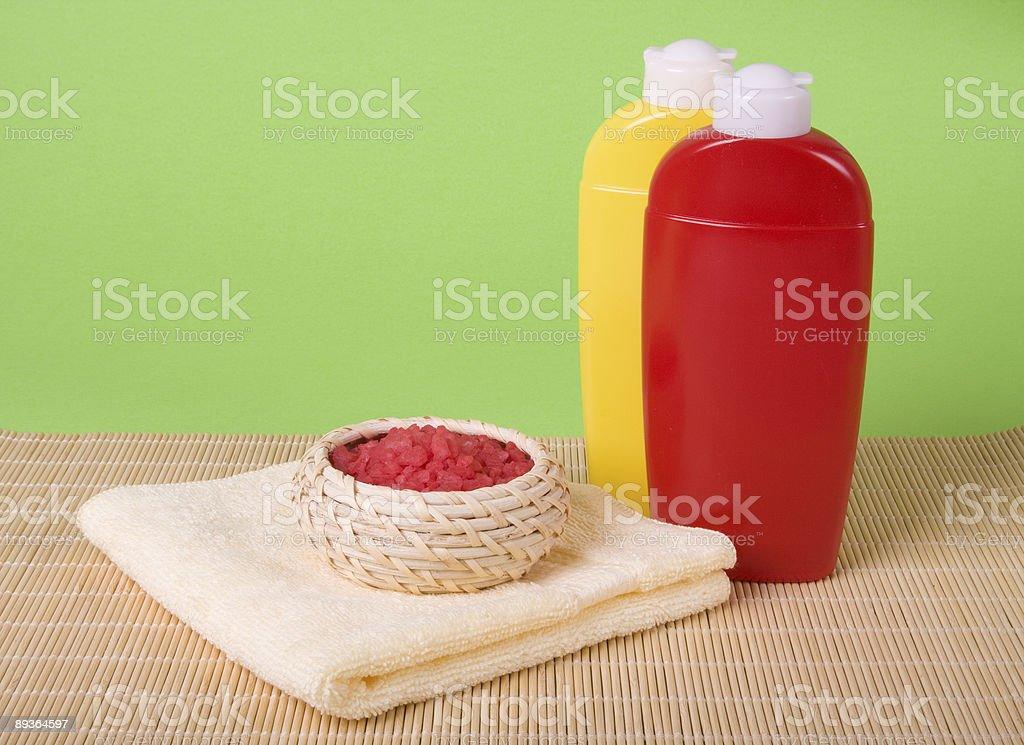 Rosso e giallo spa foto stock royalty-free
