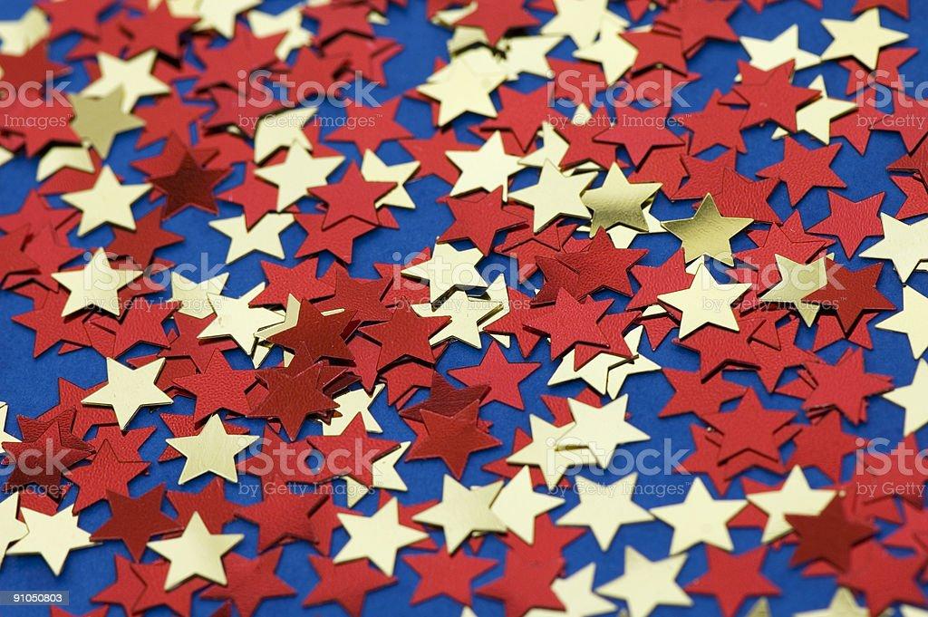 Red and yellow stars stock photo