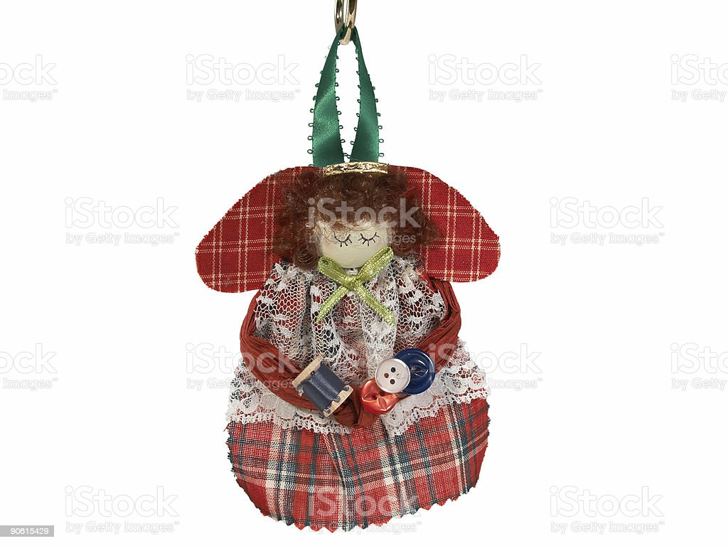 Red angel ornament royalty-free stock photo