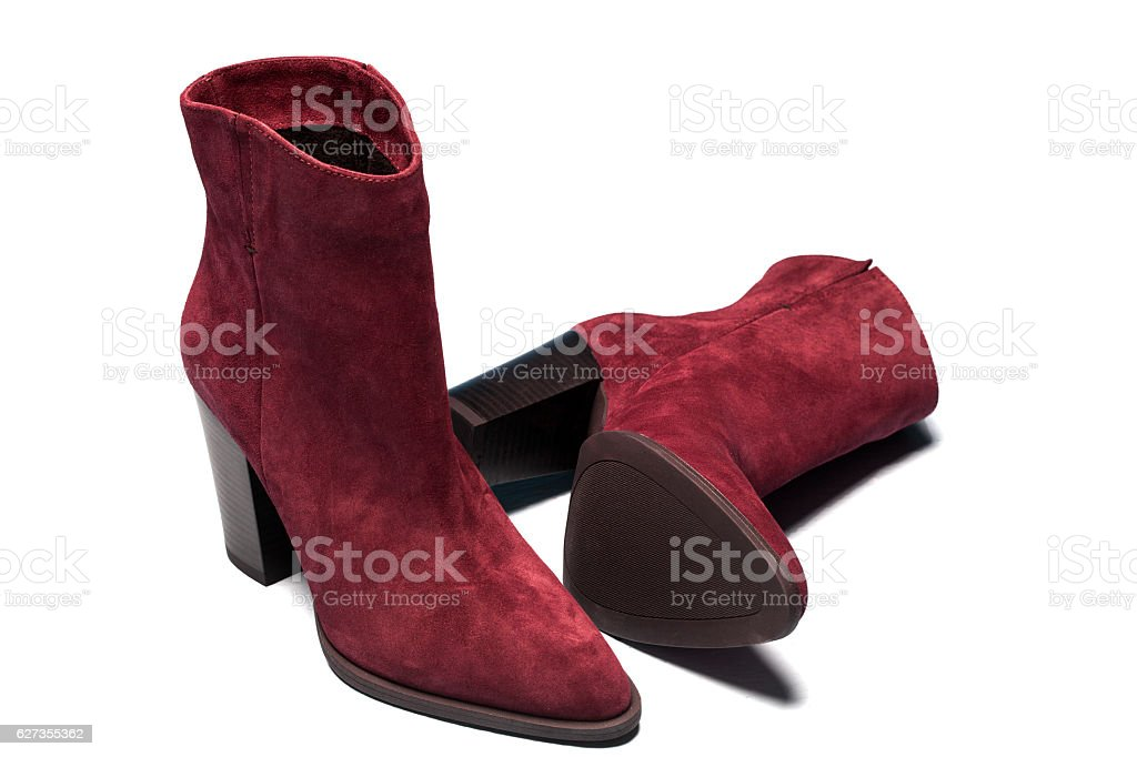 Red Ankle Boot - Photo