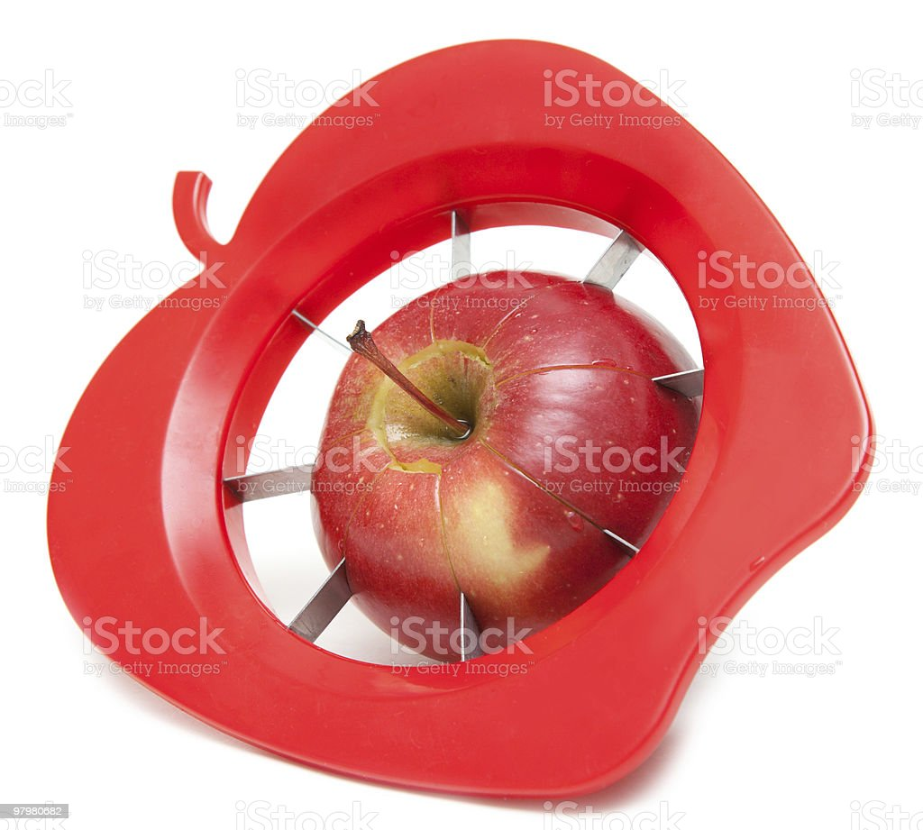 Red apple and special knife royalty-free stock photo