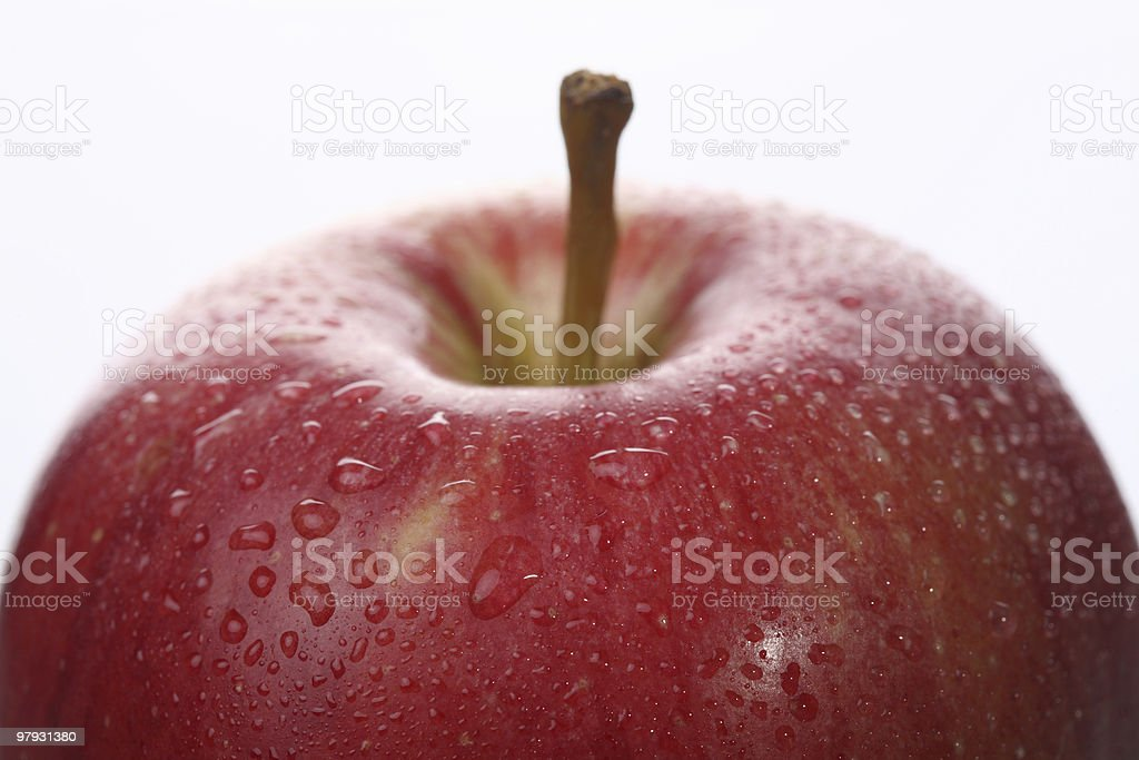 Red Apple Close-Up royalty-free stock photo