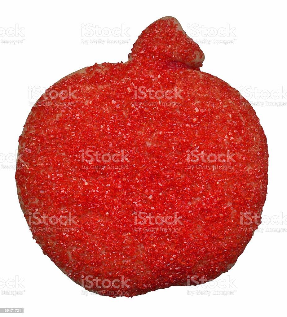 Красное яблоко печенье Стоковые фото Стоковая фотография