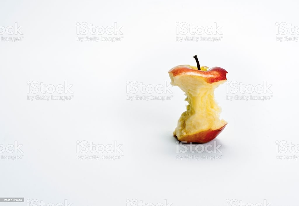 Red Apple Core stock photo
